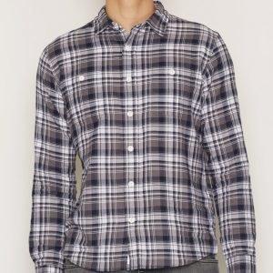 Edwin Labour Shirt Herringbone Kauluspaita Navy