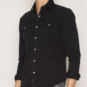Edwin Memphis Shirt Natural Kauluspaita Black