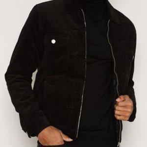 Edwin Panhead Zip Flap Jacket Takki Black