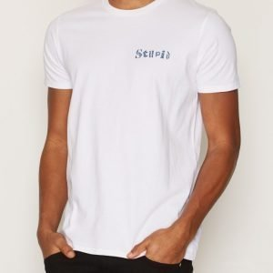 Edwin Stupid TS Cotton T-paita White