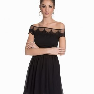 Elise Ryan Bardot Lace Skater Dress