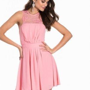 Elise Ryan Chiffon Skater Dress Juhlamekko Pink
