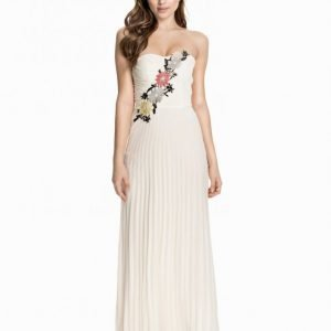 Elise Ryan Flower Embellished Maxi Dress Maksimekko Cream