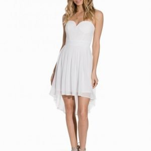 Elise Ryan Lace Bustier Chiffon Dress Skater Mekko Ivory