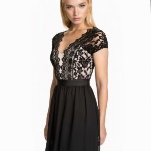 Elise Ryan Lace Chiffon Sheer Dress