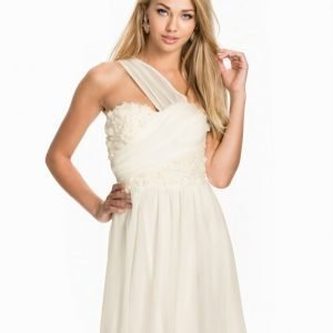 Elise Ryan One Shoulder 3D Flower Skater Dress