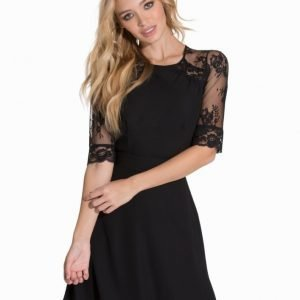 Elise Ryan Short Chiffon Lace Dress
