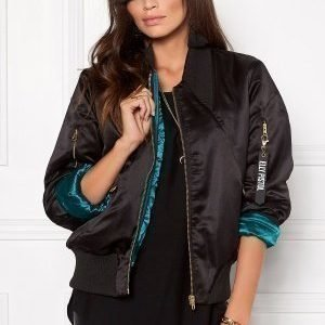 Elly Pistol Jungle Bomber Jacket Black