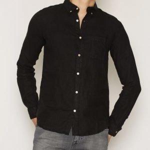 Elvine Waldemar Shirt Kauluspaita Black