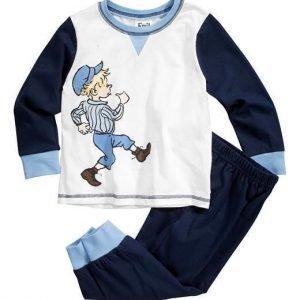 Emil i Lönneberga Pyjama Sininen Valkoinen