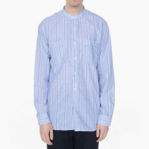 Engineered Garments Banded Collar Shirt