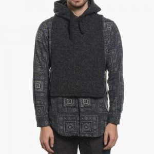 Engineered Garments Charcoal Sweater Knit Hooded Interliner