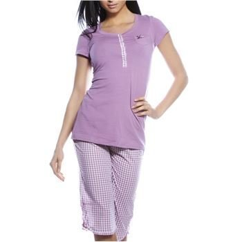 Esprit Vichy Pyjamas Set Purple