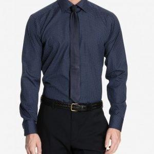 Eton Brighton Poplin Slim Shirt Kauluspaita Tummansininen