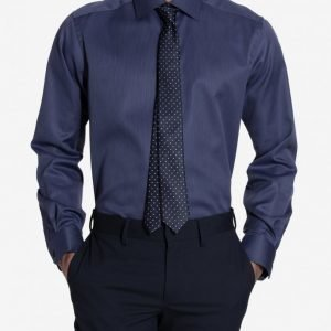 Eton Cambridge Twill Regular Shirt Kauluspaita Blue
