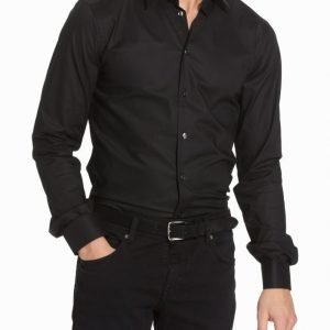 Eton Cambridge Twill Slim Shirt Kauluspaita Black