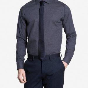 Eton Cambridge Twill Slim Shirt Kauluspaita Blue