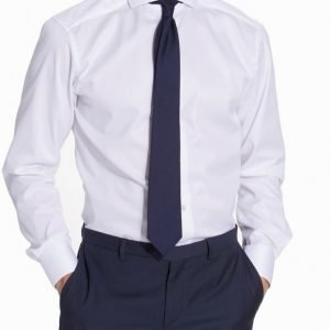 Eton Cambridge Twill Slim Shirt Kauluspaita White