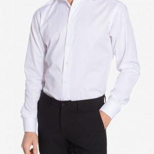 Eton Cambridge Twill Slim Shirt Kauluspaita White