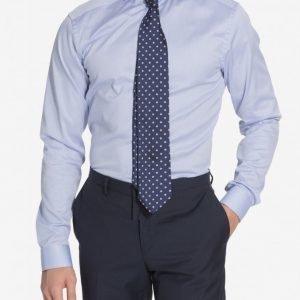 Eton Cambridge Twill Super Slim Shirt Kauluspaita Blue
