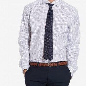Eton Cut Away Collar Poplin Shirt Kauluspaita Valkoinen