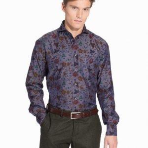Eton Denim Twill Slim Shirt Kauluspaita Blue