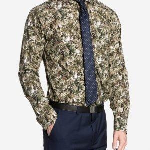 Eton Lightweight Poplin Slim Shirt Kauluspaita Green