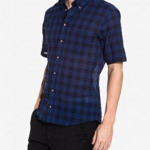 Eton Muslin Slim Shirt Kauluspaita Blue