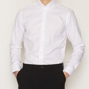 Eton Pinpoint Oxford Slim Shirt Kauluspaita White