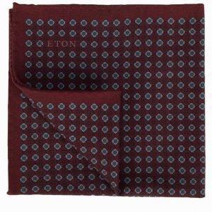 Eton Pocket Square Taskuliina Punainen/Sininen