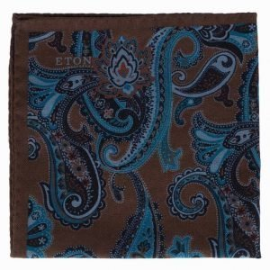 Eton Pocket Square Taskuliina Ruskea/Sininen
