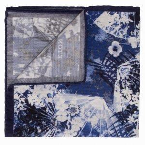 Eton Pocket Square Taskuliina Sininen