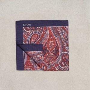 Eton Pocket Square Taskuliina Vaaleanpunainen/Punainen