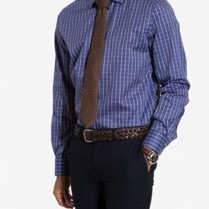 Eton Poplin Contemporary Fit Shirt Kauluspaita Sininen