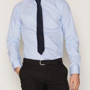 Eton Poplin Shirt Kauluspaita Sininen