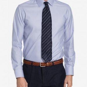 Eton Poplin Stretch Shirt Kauluspaita Blue