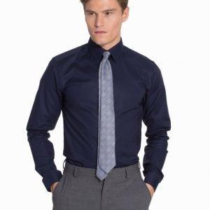 Eton Poplin Stretch Super Slim Shirt Kauluspaita Blue