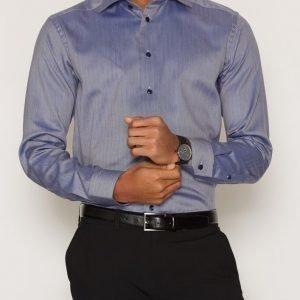 Eton Signature Twill Shirt Kauluspaita Sininen