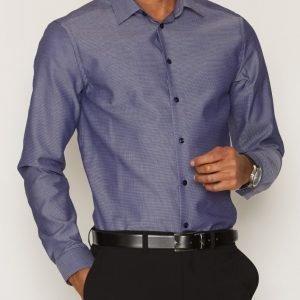 Eton Twill Shirt Kauluspaita Sininen