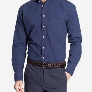Eton Twill Slim Shirt Kauluspaita Blue