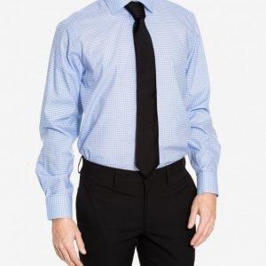 Eton Twill Super Slim Shirt Kauluspaita Blue