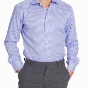 Eton York Twill Slim Shirt Kauluspaita Blue