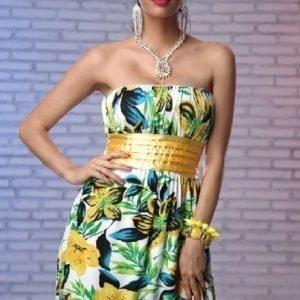 Evelyn keltainen mekko (plus size)