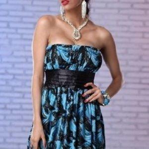Evelyn mustasininen mekko