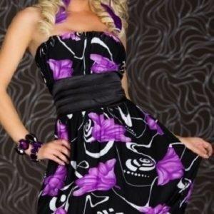 Evelyn violettimusta juhlamekko (Plus Size)