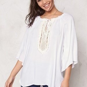 F.A.V Silky Lace Tunic White