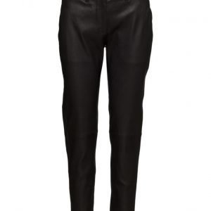 FIVEUNITS Kylie 632 Crop Black Leather Pants