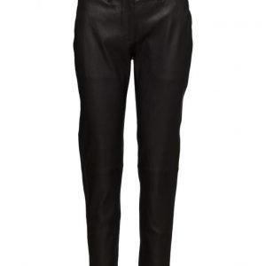 FIVEUNITS Kylie 632 Crop Black Leather Pants