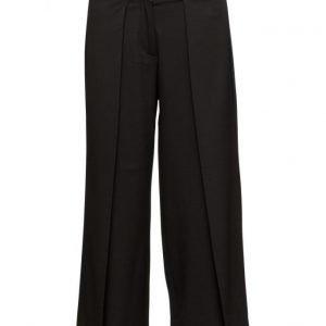 FIVEUNITS Lucy 305 Crispy Black Pants leveälahkeiset housut