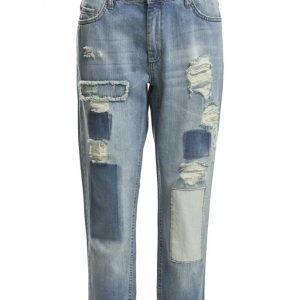 FIVEUNITS Selma 313 Crop Patchwork Jeans boyfriend farkut